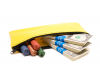 Yellow Zipper Bank Bag 5.5 X 10.5 | CUR-009