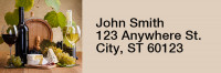 Wine and Dine Narrow Address Labels | LRRFOD-67