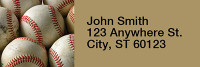 Baseball Narrow Address Labels | LRRSPO-04