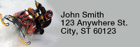 Snowmobiling Narrow Address Labels | LRRSPO-11