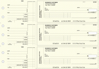 Yellow Knit Standard Invoice Business Checks | BU3-YEL02-SNV