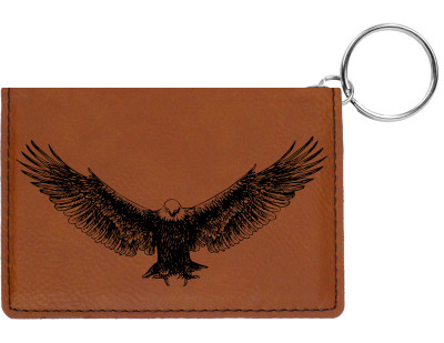 American Eagle Engraved Leather Keychain Wallet | KLE-00009