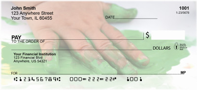 Finger Painting Personal Checks | PRO-23