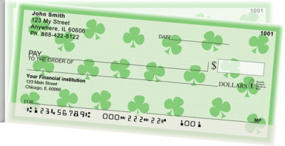 Shamrocks Side Tear Personal Checks | STGEO-06