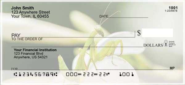 Praying Mantises Personal Checks | ANI-34