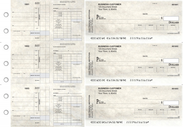 Granite Payroll Invoice Business Checks | BU3-7CDS16-PIN