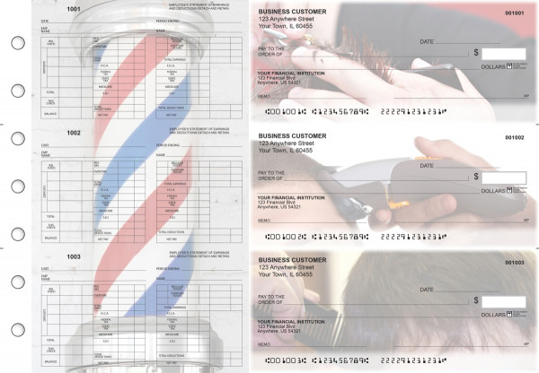 Barber Multi-Purpose Hourly Voucher Business Checks | BU3-7CDS28-MPH