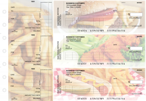 American Cuisine Standard Invoice Business Checks | BU3-CDS01-SNV
