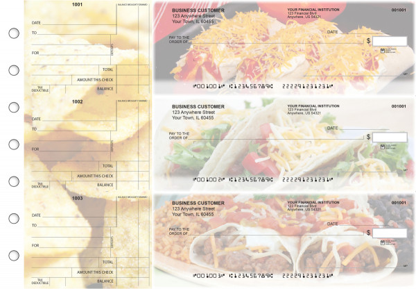 Mexican Cuisine Standard Mailer Business Checks | BU3-CDS07-SML