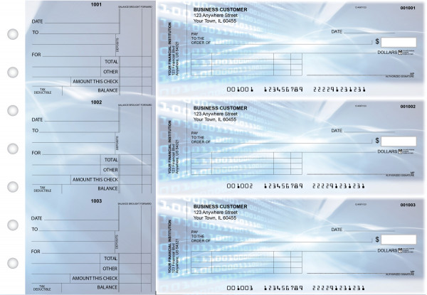 Digital Standard Invoice Business Checks | BU3-CDS15-SNV