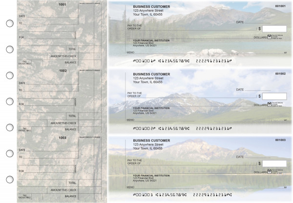 Scenic Mountains Standard Counter Signature Business Checks | BU3-CDS29-SCS