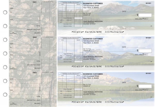 Scenic Mountains Standard Itemized Invoice Business Checks | BU3-CDS29-SII