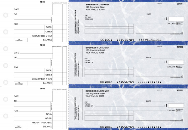 Blue Marble Standard Invoice Business Checks | BU3-LMA01-SNV