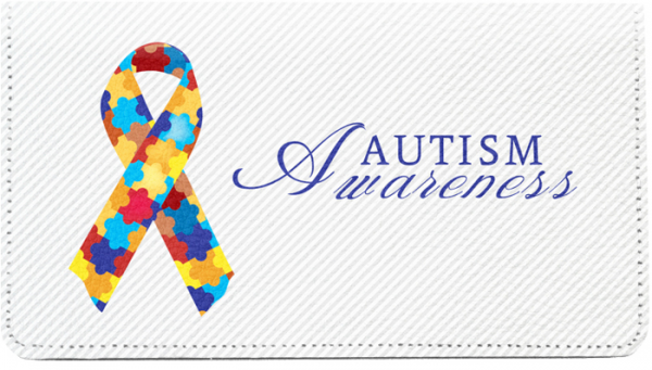 Autism Awareness Ribbon Leather Cover | CDP-RIB07