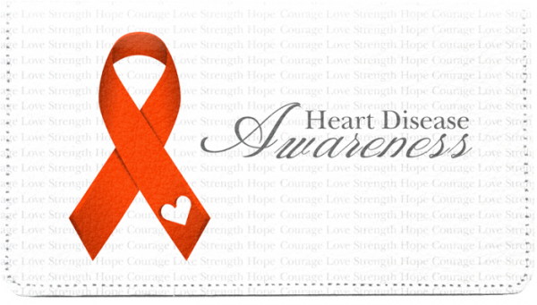 Heart Disease Awareness Leather Cover | CDP-RIB16