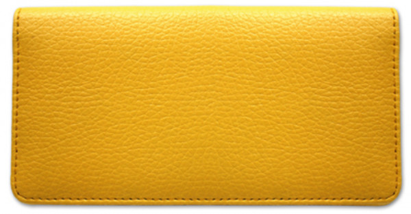 Yellow Textured Leather Checkbook Cover | CLP-YEL01