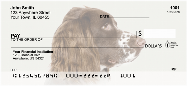 More English Spaniels Personal Checks | DOG-101