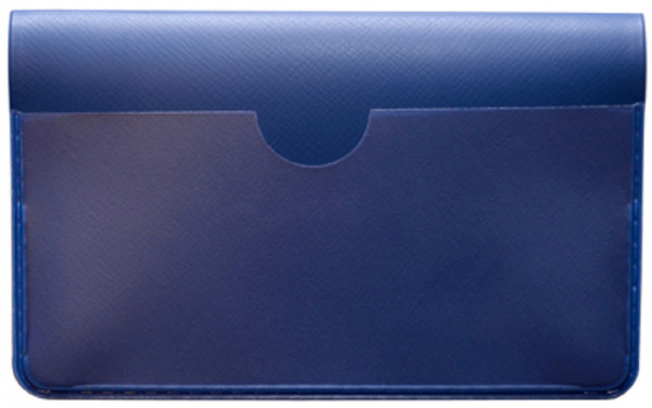 Blue Vinyl Debit Card Cover | DVP-BLU01