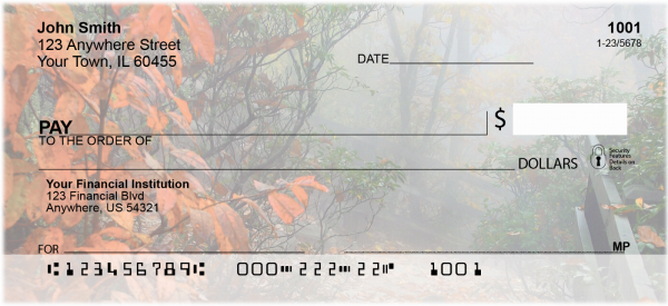 Dreary Fall Days Personal Checks | FUN-71