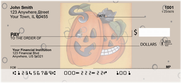 Pumpkin Hide and Seek Personal Checks by Lorrie Weber | JHS-13