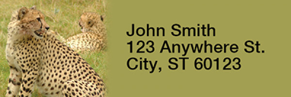 Safari Wildlife Narrow Address Labels | LRRANI-03
