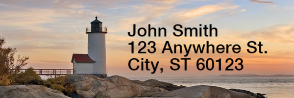 Lighthouses Scenic Views Rectangle Address Labels | LRRSCE-81