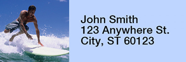 Surfs Up Narrow Address Labels | LRRSPO-88