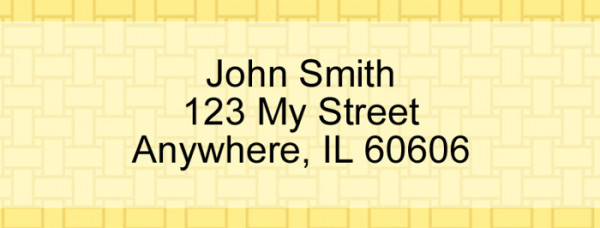 Yellow Safety Narrow Address Labels | LRVAL-003