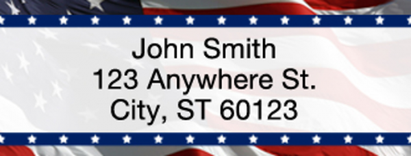 American Pride Rectangle Address Label | LRVAL-010