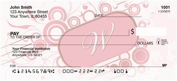Stylish Monogram W Personal Checks | MONO-03W