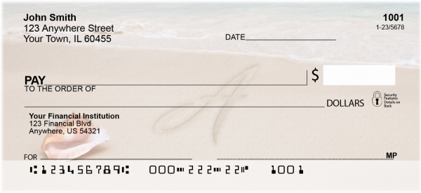 Sand Written Monogram A Personal Checks | MONO-07A