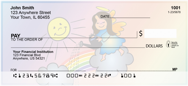 Rainbow Angels Christian Checks | REL-22