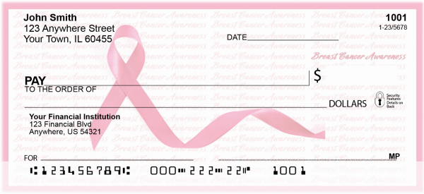 Breast Cancer Awareness Ribbon Personal Checks | RIB-09