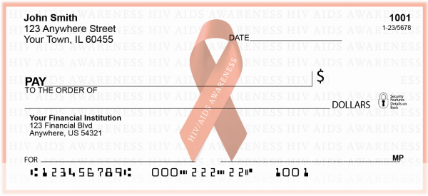HIV/Aids Awareness Ribbon Personal Checks | RIB-17