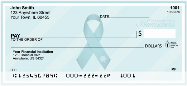 Myasthenia Gravis Awareness Personal Checks | RIB-28