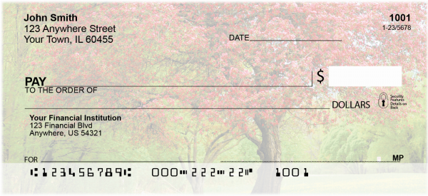 Trees In Springtime Personal Checks | SCE-14