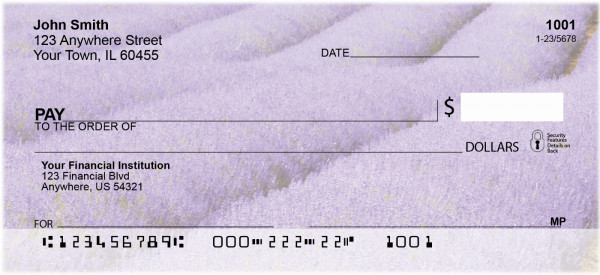 Fields Of Lavender Personal Checks | SCE-16