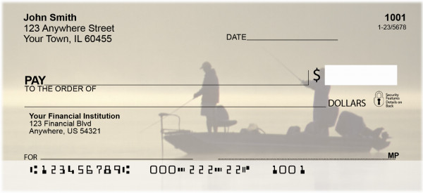 Gone Fishing Personal Checks | SPO-21