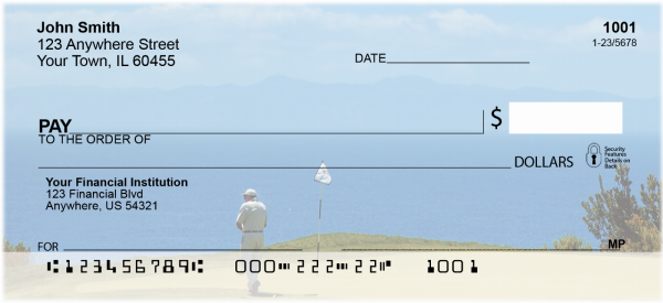 Golfers View Of Catalina Island Personal Checks | SPO-43