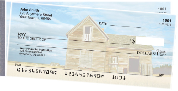 Barns on the Prairie Side Tear Personal Checks  | STSCE-05