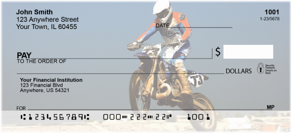 Motocross Cycles Personal Checks | TRA-09