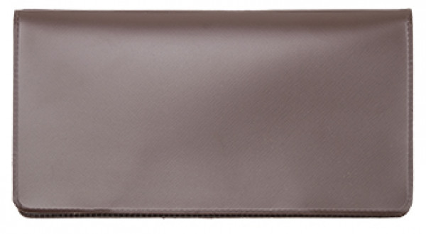Light Brown Vinyl Checkbook Cover | VCB-BRN01